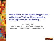 Introduction To The Myers-Briggs Type Indicator