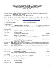 Final Program - Society for Developmental Biology