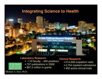 Integrating Science to Health - Society for Developmental Biology