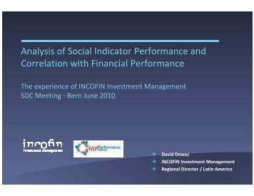 Social and financial performance correlation studies - Sdc ...