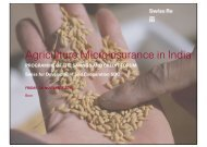 Agriculture Microinsurance in India - Sdc-employment-income.ch
