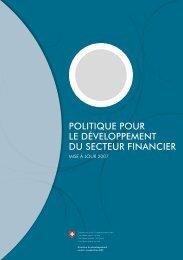 politique pour le développement du secteur ... - Deza - admin.ch