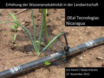iDEal Tecnologias Nicaragua - SDC Water Network
