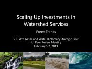 Presentation Forest Trends - SDC Water Network