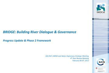 Presentation IUCN - SDC Water Network