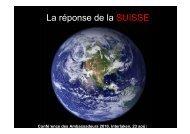 5-réponse de la Suisse - SDC Water Network
