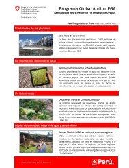 Programa Global Andino PGA - SDC Climate Change and ...