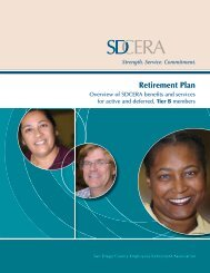 Retirement Plan for Tier B booklet - sdcera
