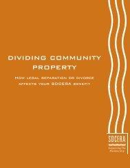 Dividing Community Property booklet - sdcera