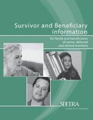 Survivor and Beneficiary Information Booklet - sdcera