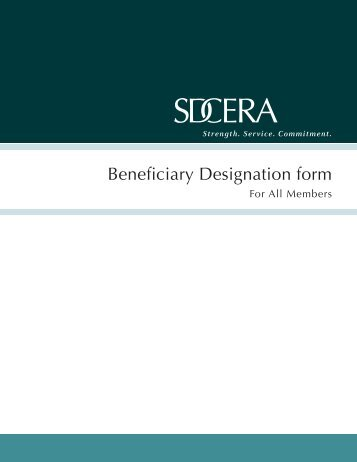 Beneficiary Designation form - sdcera