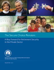The Secure Choice Pension: - Retirement Security For All