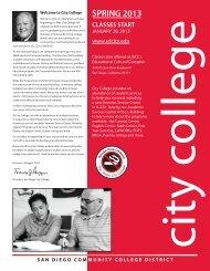 SPRING 2013 - San Diego City College