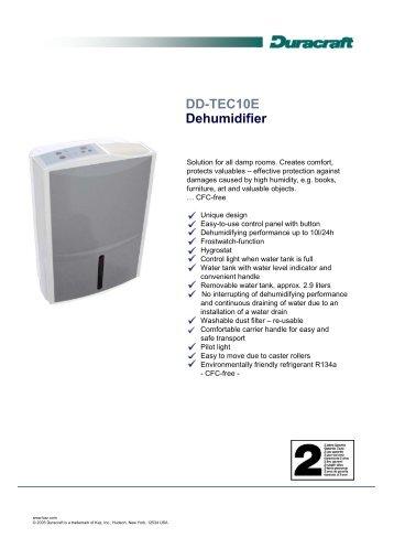 DD-TEC10E Dehumidifier - mixofthings