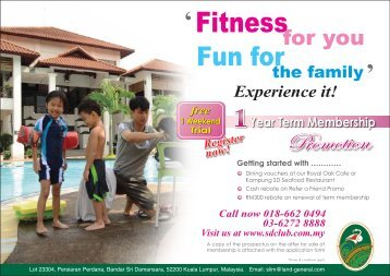 SD Club Flyer (Front) - Sri Damansara Club