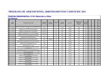 PROGRAMA DE ADQUISICIONES, ARRENDAMIENTOS Y - Cecut