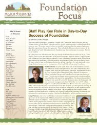 Staff Play Key Role in Day-to-Day - South Dakota Community ...