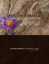 2010 Annual Report - South Dakota Community Foundation
