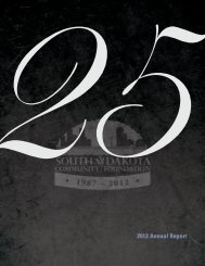 2012 Annual Report - South Dakota Community Foundation