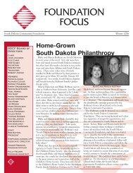 FOUNDATION FOCUS - South Dakota Community Foundation