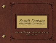 2011 Annual Report - South Dakota Community Foundation