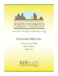 Convened Meeting - South Dakota Community Foundation