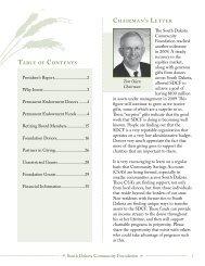 2009 Annual Report - South Dakota Community Foundation