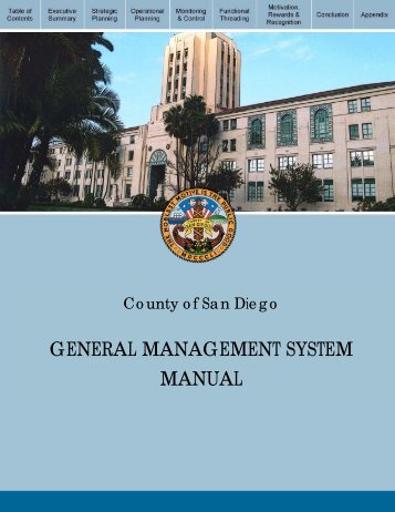 General Management System - County of San Diego