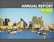 ANNUAL REPORT - County of San Diego
