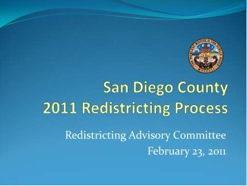 Staff Presentation - County of San Diego