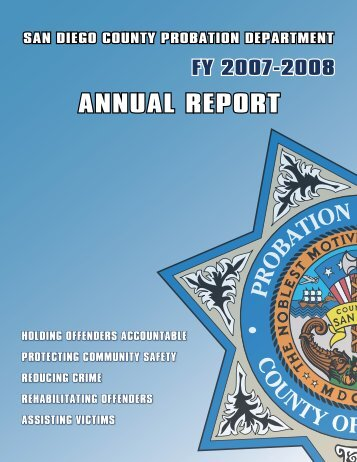 Annual Report 2008 - County of San Diego
