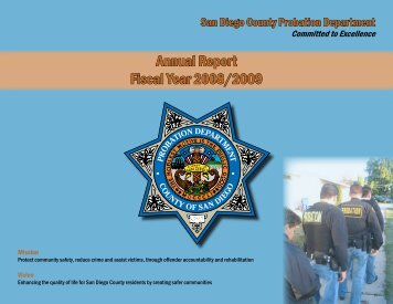 Annual Report Fiscal Year 2008/2009 - County of San Diego