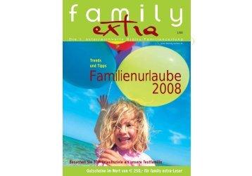 Familienurlaube 2008 - Family-Extra