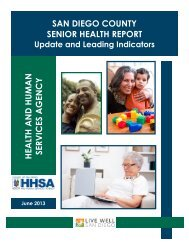 Senior Health Report - County of San Diego