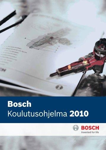 Bosch Koulutusohjelma 2010