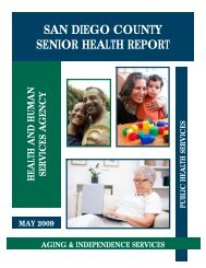 Sr Health Report.072809 - County of San Diego - State of California