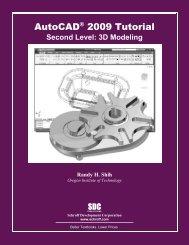 978-1-58503-434-5 -- AutoCAD 2009 Tutorial ... - SDC Publications