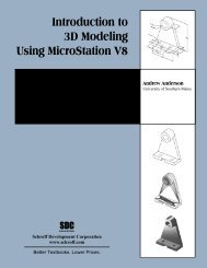 Introduction to 3D Modeling Using MicroStation V8 - SDC Publications