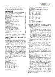 Versicherungsleistungen 2011/2012 Inhaltsverzeichnis Verhalten im ...