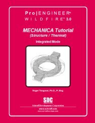 Pro/ENGINEER Wildfire 3.0 Mechanica Tutorial - SDC Publications