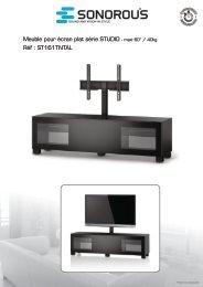 Meuble pour écran plat série STUDIO - maxi 60'' / 40kg Réf ...