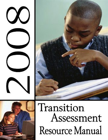 Transition Assessment Resource Manual, (2008) - Connecticut State ...