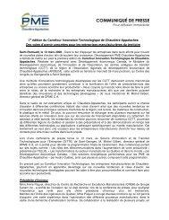 Des voies d'avenir concrètes pour les entreprises - SDE région de ...