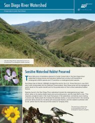 SD River Watershed Fact Sheet - San Diego Gas & Electric