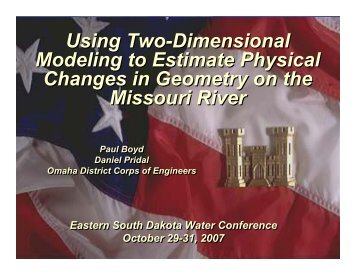 Using Two-Dimensional Modeling to Estimate Physical Changes in ...