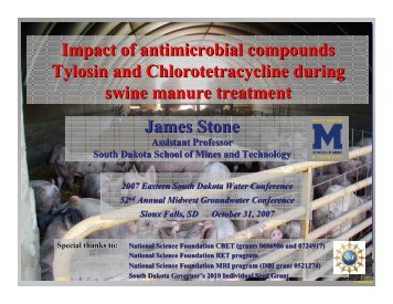 Impact of antimicrobial compounds Tylosin and Chlorotetracycline ...