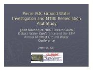 Pierre VOC Ground Water Investigation and MTBE Remediation ...