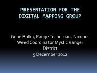 Presentation for the Digital Mapping Group