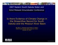 Is there Evidence of Climate Change in the Streamflow Record for ...