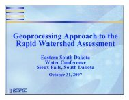 Geoprocessing Approach to the Rapid Watershed Assessment